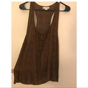 Brown with black stripes loose tank